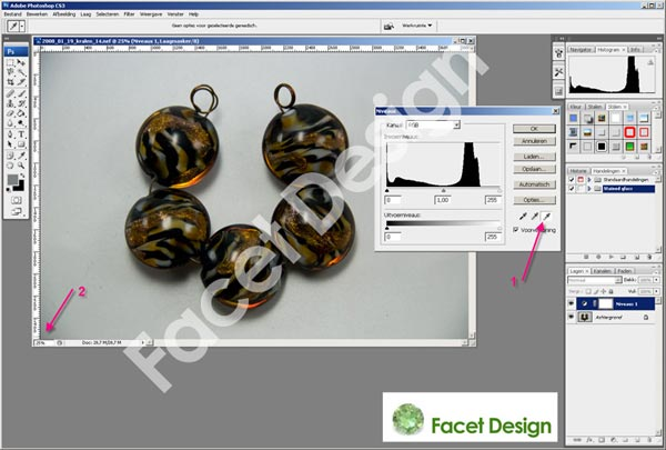 Facet Design tutorial levels afb 4