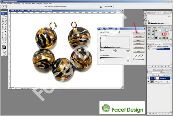 Facet Design tutorial levels afb 5